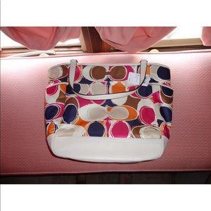 Coach scarf print bag